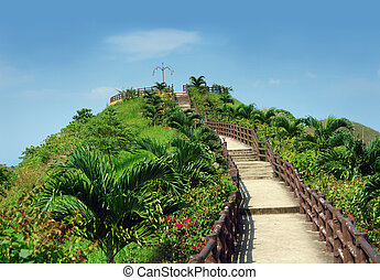 Stairway to Heaven - Stairway to heaven Tropical garden with...