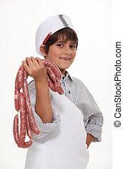 quem, wants, sausages?