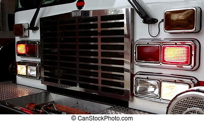 Fire Engine Siren - video of the front of a fire truck with...