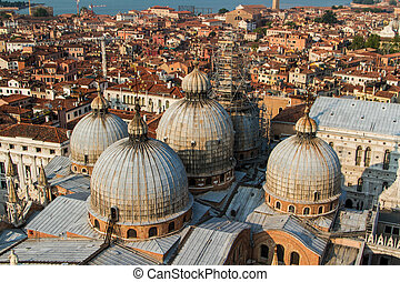 Saint Marks Basilica, Cathedral, Church Statues Mosaics Details Doge's Palace Venice Italy