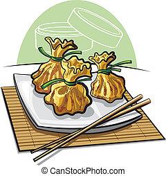 Dim sum, steamed dumplings