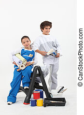 children disguised as diy