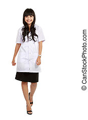 young medical doctor standing full length
