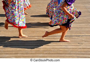 Children's dancing legs