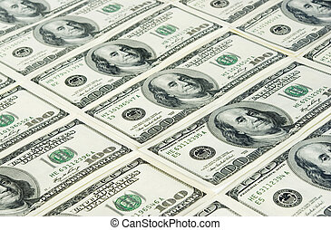 dollars background - american dollars arranged at the...