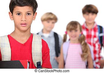 escuela, niños
