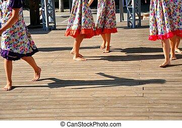 Children's dancing legs
