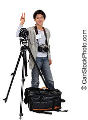 niño, fotógrafo