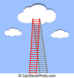 ladder of success. - The ladder to take to reach the target....