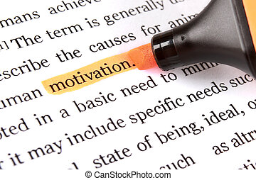 Highlighter and word motivation