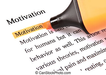 Highlighter and word motivation - concept business...