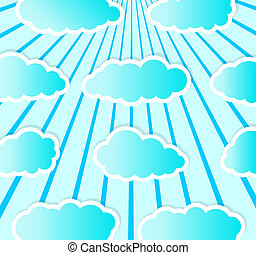 cloudy - Partly cloudy with a bright picture as wallpaper.