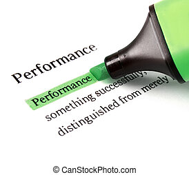 Highlighter and word performance - concept business...
