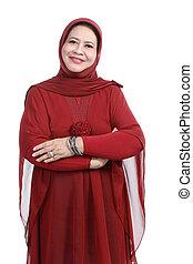 Confiado, musulmán, mujer