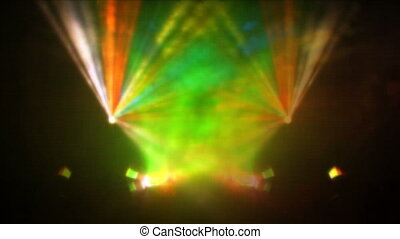Laser beamer projector - A beautiful laser show at the...