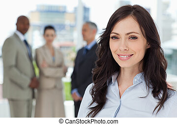 Businesswoman showing a great smile in front of the camera -...