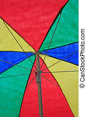 Colorful Sun Umbrella - A colorful sun umbrella, with the...