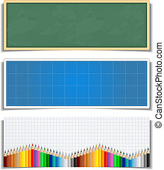 Education Banners - Set of education banners, vector eps10...