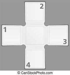 Blank paper brochure template