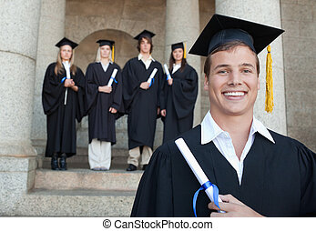 Close-up of a happy graduate