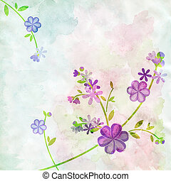 watercolor background flower