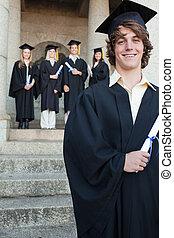 Close-up of a handsome graduate