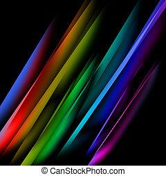 oblicuo, multicolor, derecho, líneas