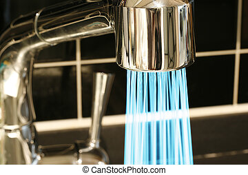 tap with a water stream