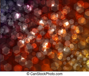 Hexagonal and spherical bokeh -can be use as  background