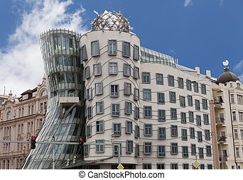 Dancing house in Prague Czech republic - Modern...