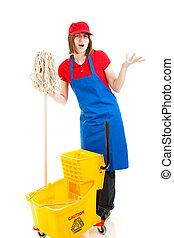 Frustrated Teenage Worker