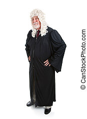Judge in Wig - full body - Full body isolated view of a...