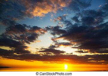 sea on sunset. Nature composition.