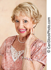Portrait of Beautiful Senior Woman - Portrait of a beautiful...