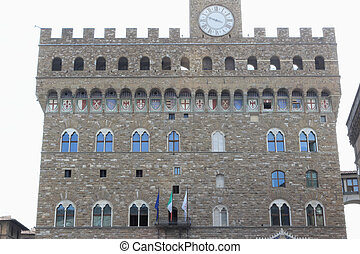 Old palace - Florence, Italy. A kind on the Old palace or a...