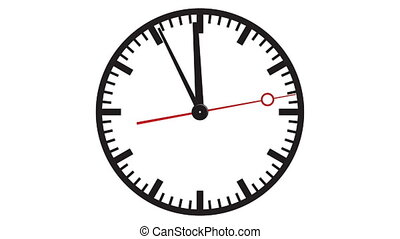 The eleventh hour - Clock showing five minutes to twelve in...