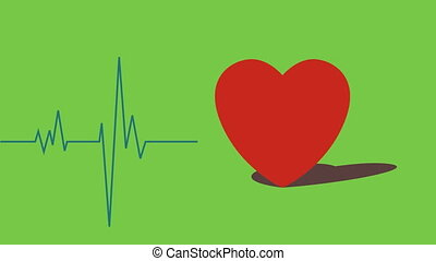 Beating heart with EKG