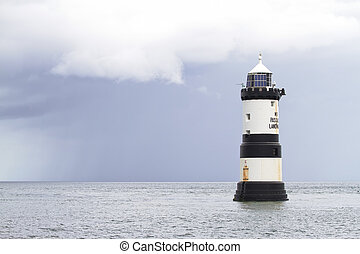 Lighthouse at Penmon Point,  North Wales
