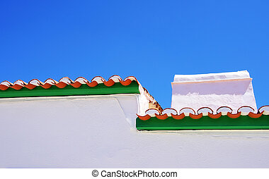 Traditional painting eaves, Alentejo region, Portugal