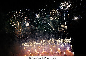 Fireworks - The end of the Columbus Festival, Huelva 2012 -...