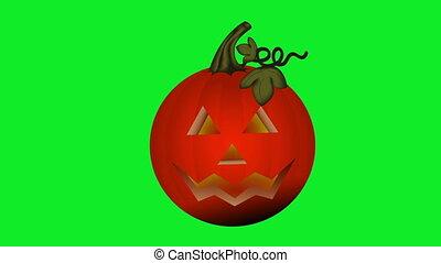 Halloween Pumpkin Green Screen