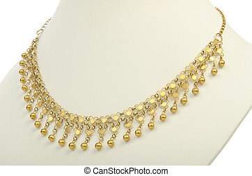 Necklace isolated on the white