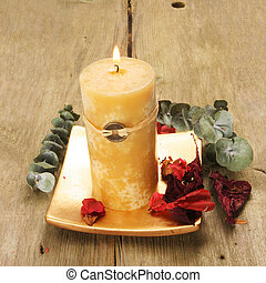 Feng Shui candle and pot pouri