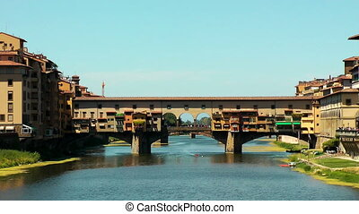 Ponte Vecchio in Florence on Arno river Italy Europe