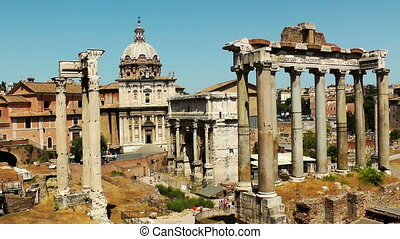 Ruins of the Roman Forum Italy