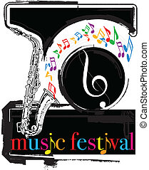 Music festival Vector illustration