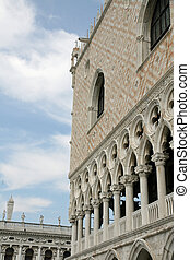 detail of palazzo ducale in Venice in Italy