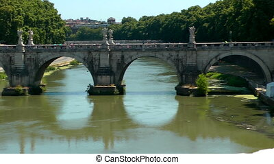 Castle Saint Angel Tiber river, Rome Italy