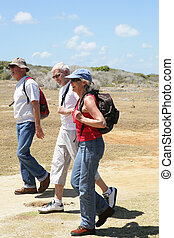 Middle-aged hikers