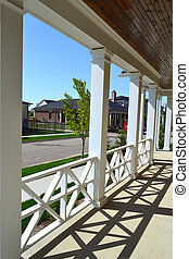 Front Porch of a New House